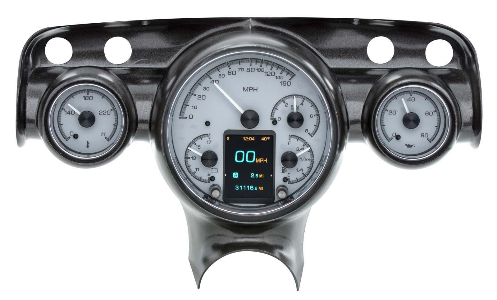 HDX 57C S dakota digital 1957 chevy bel air analog gauges silver alloy hdx,1957 Chevy Gauge Wiring