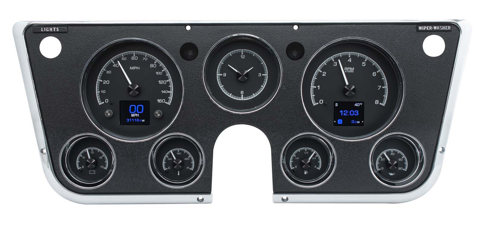 Digital Gauges For Trucks : Dakota digital chevy c truck instrument gauges