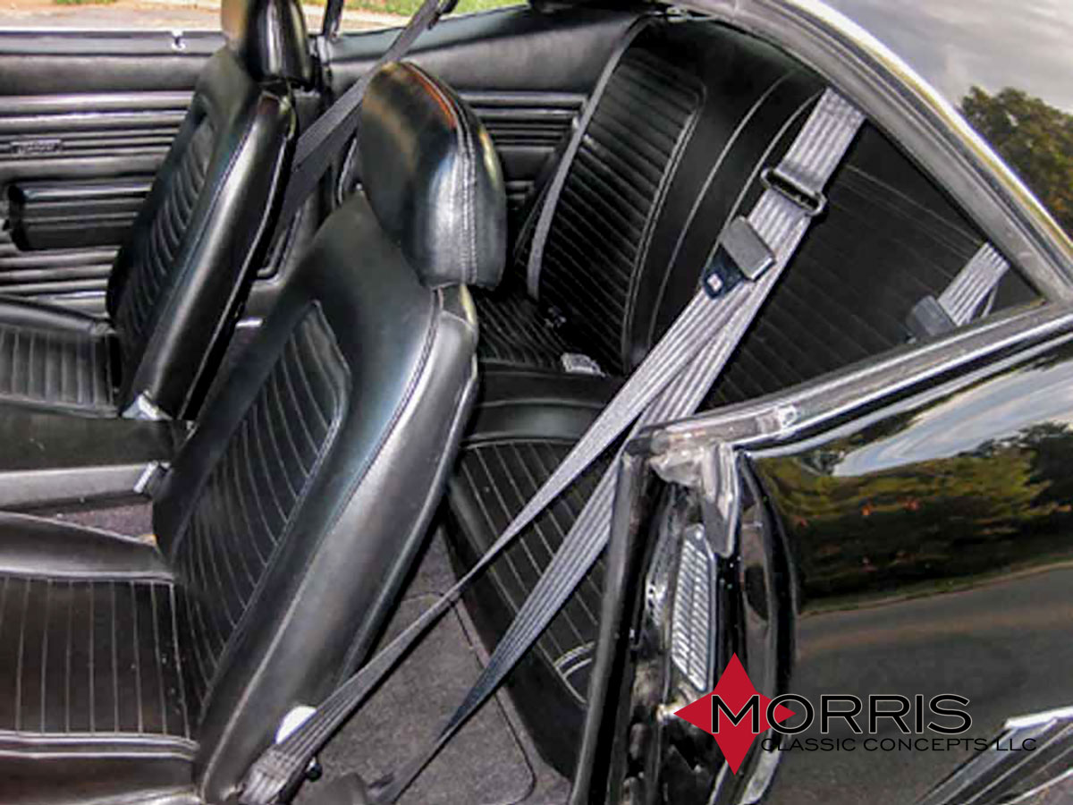 68 73 Nova 3 Point Seat Belt Front Kit Mcsb1 5